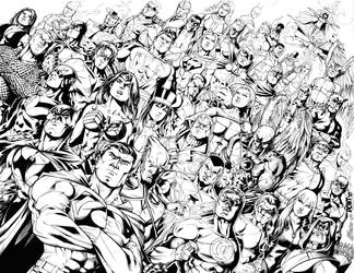 DC Comics Universe by DontBornInInk