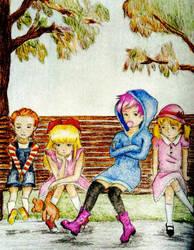 Earthbound Girls by Lavendulan