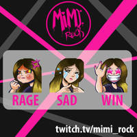 Comision Emotes - MimiRock by DonGueroLabs