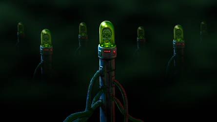 Alien skulls lair by DonGueroLabs