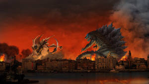 Godzilla Earth vs Gigan - Suez, Egypt by SeaGunsLives
