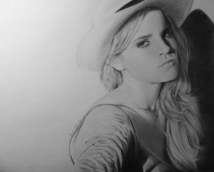 Emma Watson Portrait by darrenOhhh