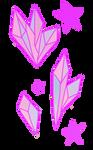 Pastel Crystals and Stars by RedVioletPanda