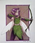 Copic Colors June: Faerie Archer by RedVioletPanda