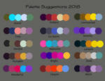 Color Scheme Additions July 2018 by RedVioletPanda