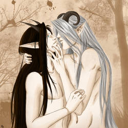 Asatyr and Yalim .....in love by DrottningFrey