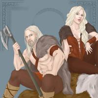 Alvar and Alfhild by DrottningFrey