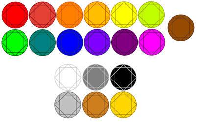 Color stones 2.0 by MrBLUERANGERHERO