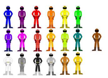 Prism Squadron Shineranger by MrBLUERANGERHERO