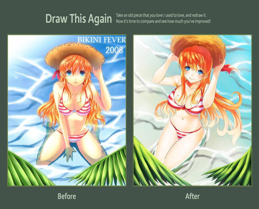 Draw this Again Challenge !! Bikini Fever Again !! by un4lord
