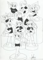 The Mini Chibi Marching Band by chisana