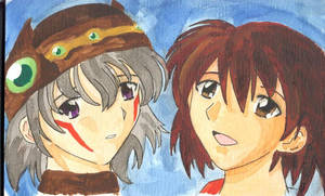 Tsukasa Watercolor quickie by chisana