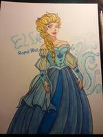 Elsa Royal Blue by 1angel0wings1