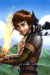 Hiccup and Toothless by elisetrinh