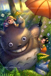 Tonari no Totoro by elisetrinh