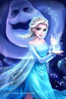 Elsa and Marshmallow by elisetrinh