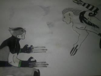 Wolvie vs Daken by Ivandamm