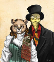 Commission - Mr and Mrs Cabaniss by TheLivingShadow