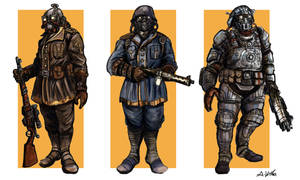 Steampunk Soldiers by TheLivingShadow