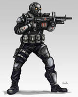 Futuristic Soldier 05 by TheLivingShadow