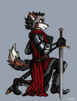 Wolf Knight  - 01 by TheLivingShadow
