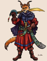 Caracal Swordsman by TheLivingShadow