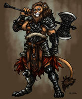 Barbarian Lion by TheLivingShadow
