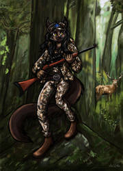 Margie the Hunter - Commission by TheLivingShadow