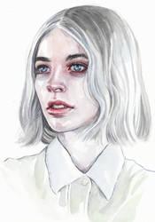 Watercolor Portrait by Tomasz-Mro