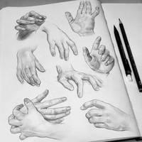 Hand Studies by Tomasz-Mro