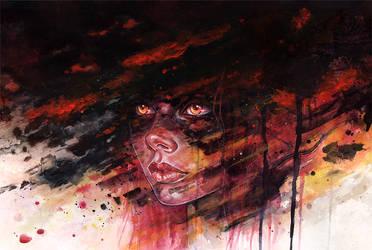 Meteor Girl by Tomasz-Mro