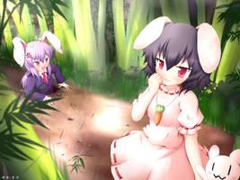 Touhou Inaba Tewi and Udonge by KANE-NEKO