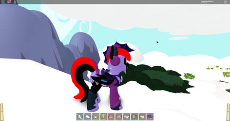My Female Bat Pony Self's Winter Outfit: Left View by jimmyhook19202122