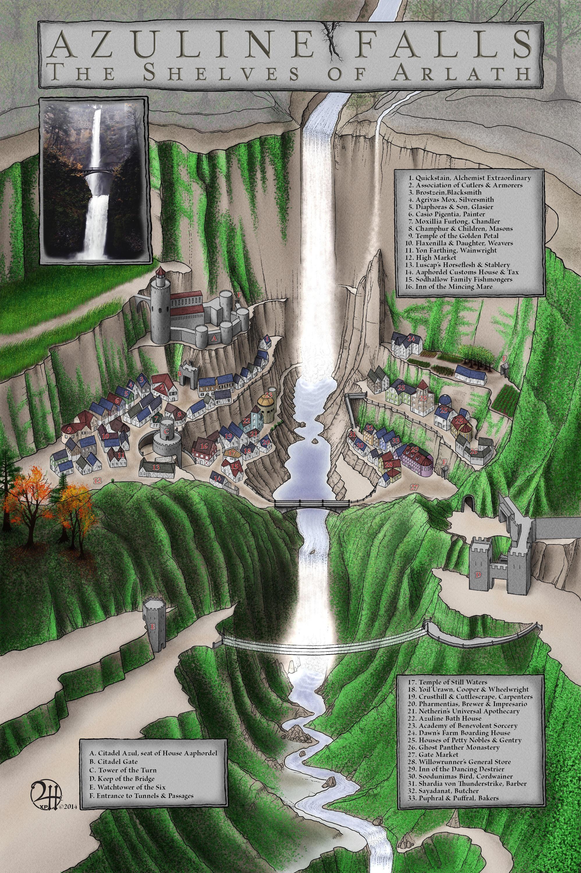 Azuline Falls: The Shelves of Arlath by XianPryde