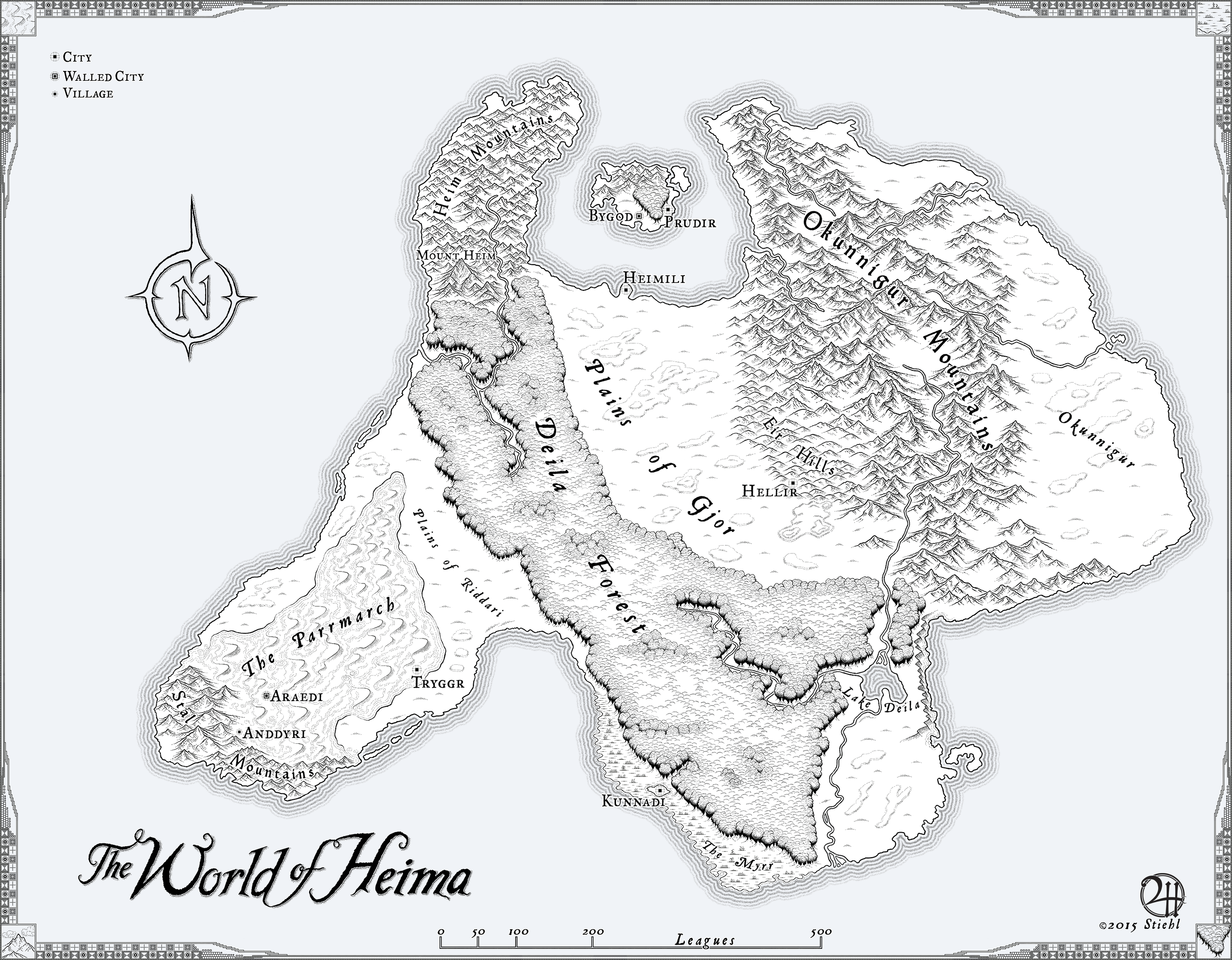 Heima: Commissioned Map for Novel by XianPryde