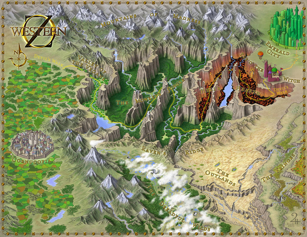 Western OZ - Commissioned Map by XianPryde