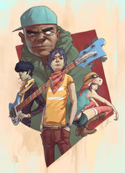 Gorillaz by JonEastwood