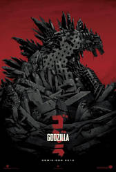 Godzilla 2014 Pre-SDCC Teaser Photo by Psychocide