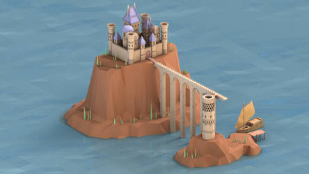 Low Poly Castle by Wizard-Khalifus