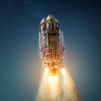 Rocket launch by M0NTEZUMA