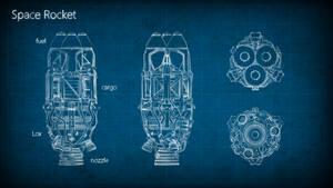 Rocket Blueprint by M0NTEZUMA