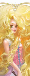 Disney Princesses Bookmarks: Rapunzel by silviacaballero