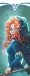 Disney Princesses Bookmarks: Merida by silviacaballero