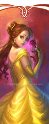 Disney Princesses Bookmarks: Belle by silviacaballero