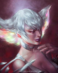 Portrait Commission: Ragyo Kiryuin by silviacaballero