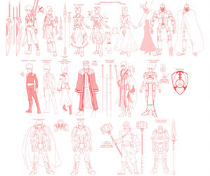 Princess Resue- character design roughs 01 v2 by mattwilson83