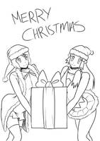 7c Serena and Dawn christmas gift by mattwilson83