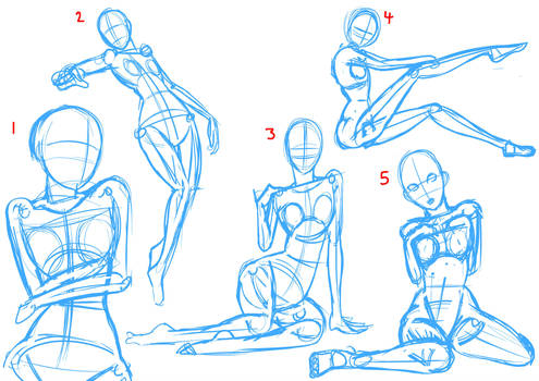 Draw With Me 10 Practising Poses Female By Mattwilson83 On Deviantart