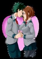 Speed Paint - Izuku and Ochacu Moment MHA by mattwilson83