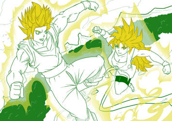 2 Goku Vs OC Jona training by mattwilson83